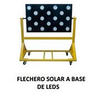flechero solar a base de leds